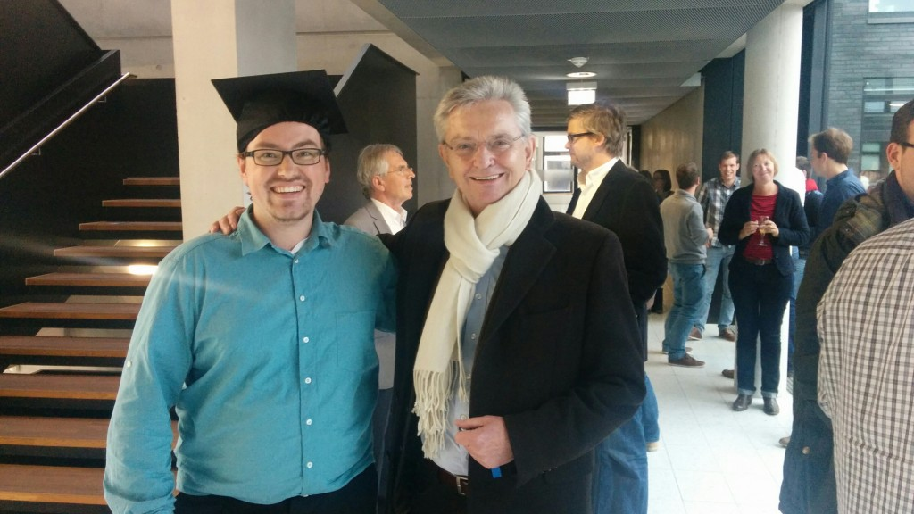 Stefan Geiß with his PhD supervisor Hans Mathias Kepplinger